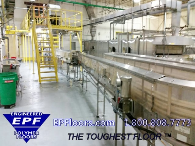 troweled epoxy flooring for food processing