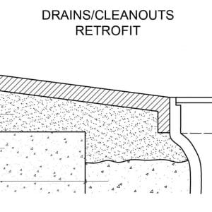 drains retrofit proper slope for drainage