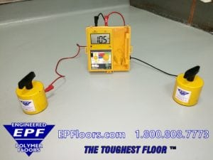conductive floor testing