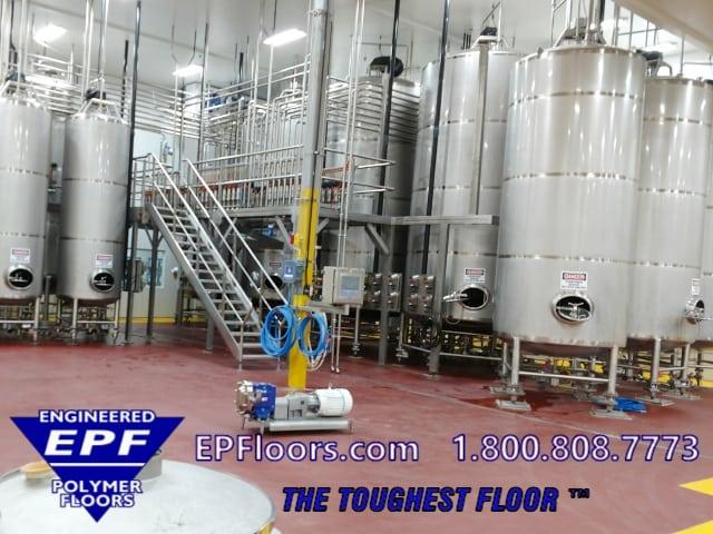 juice processing floor