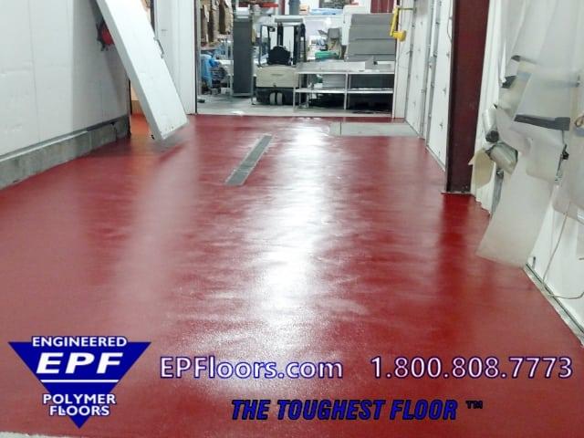 urethane concrete seafood floor