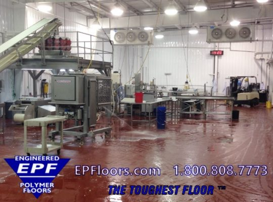 meat processing floor