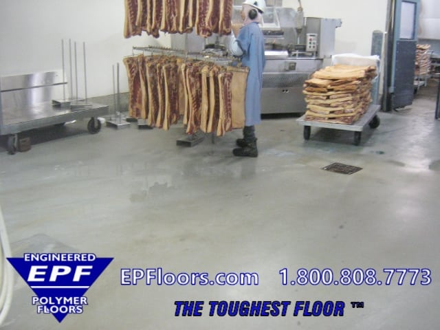 Meat Processing Floors Seamless Troweled Urethane Mortar