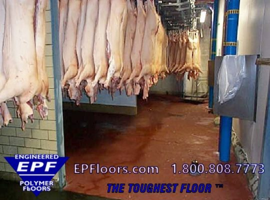 epoxy meat cooler floor