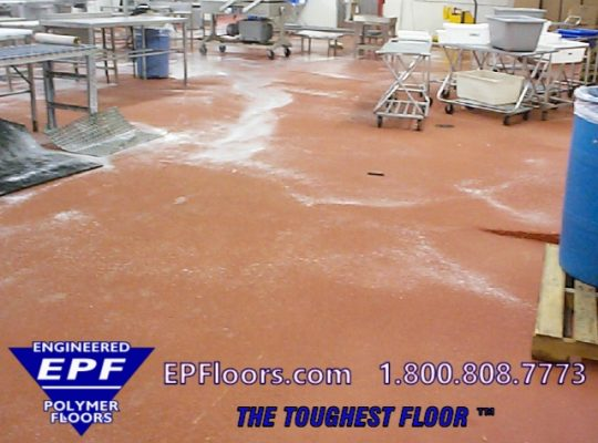 seamless meat processing floor