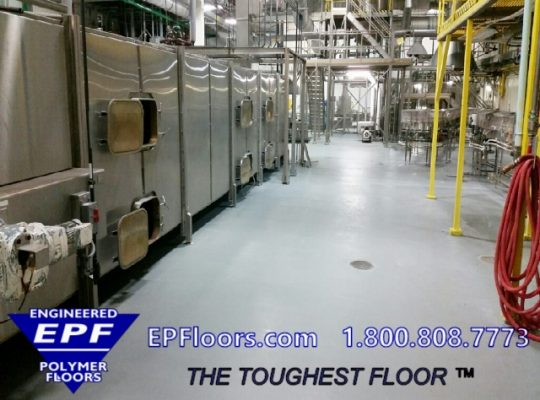 meat plant epoxy floor
