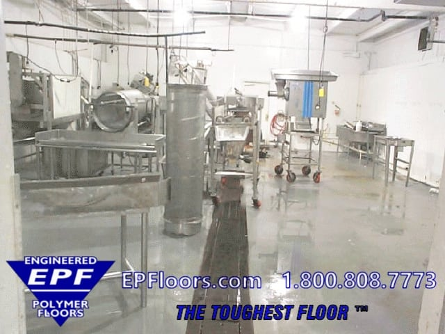 seafood processing floor