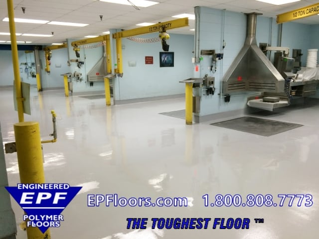 chemical resistant urethane floor