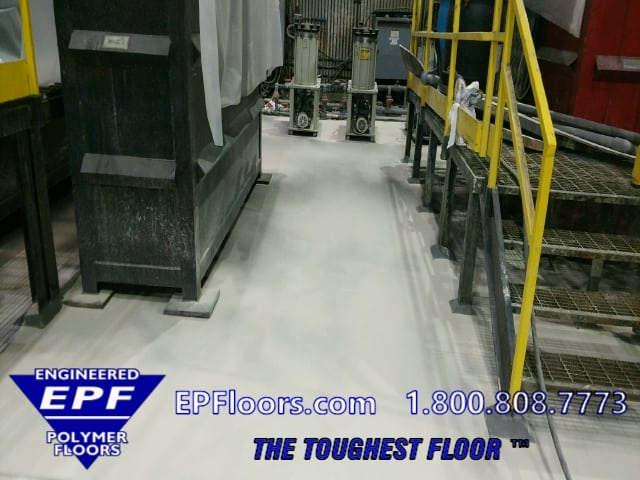 chemical processing epoxy floor