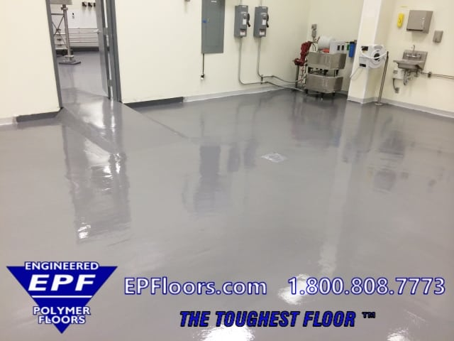 chemical resistant poured floor