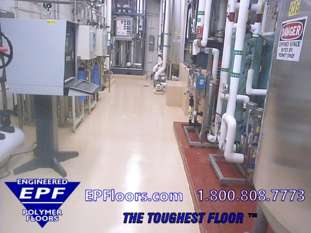chemical resistant processing floor