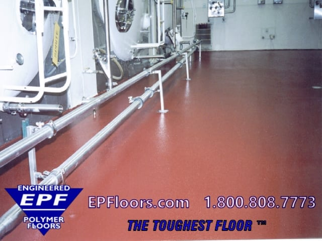chemical resistant food processing floor
